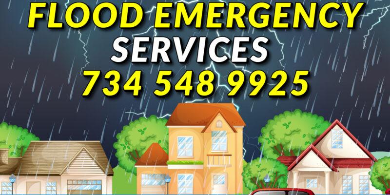 Flood emergency Downriver Michigan
